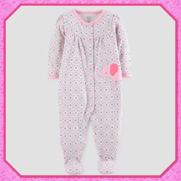 Lower Price with Just One You By Carter's Girls Footie Pajamas Clothing, Shoes & Accessories Baby & Toddler Clothing